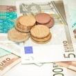 Euro coins and banknotes — Stock Photo #9303724