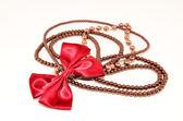 暗红色珠宝首饰 — 图库照片
