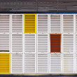 Multiple colors shutters — Stock Photo