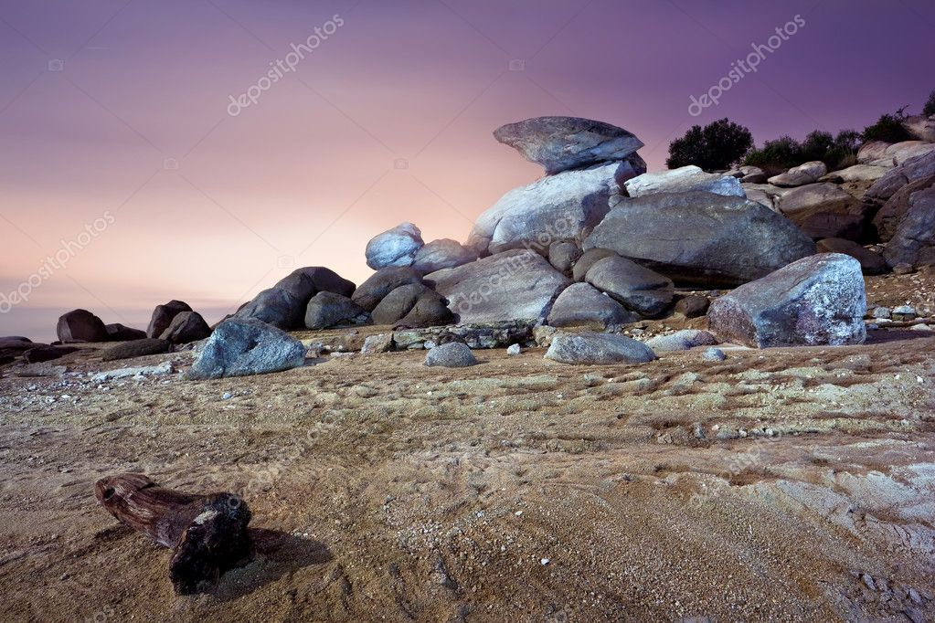Rocky landscape in the sunset — Stock Photo #8226763