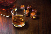 Whisky and craps — Stock Photo