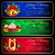 Stock Vector: Christmas banners.