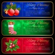 Christmas banners. — Stock Vector