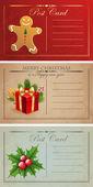 Weihnachten-ansichtskarten. — Stockvektor
