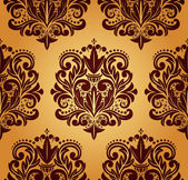 Seamless damask pattern. — Stock Vector