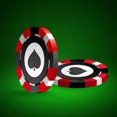 ポーカー用のチップ. — ストックベクタ