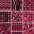 Set of stylish seamless patterns. — Stockvectorbeeld