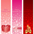 Royalty-Free Stock Vector Image: Valentine\'s day pink vertical banners.