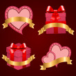 Valentine's day vector set background. - Stock Vector