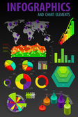 Set elements of infographics. World Map and Information Graphics. — Stock Vector