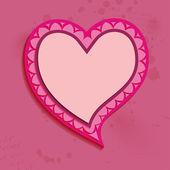 Alla hjärtans dag rosa hjärta bubbla. — Stockvektor