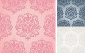 Beautiful vector seamless damask pattern. — Stock Vector