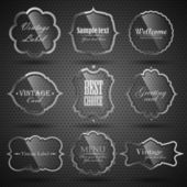 Vector set of labels with place for text. — Cтоковый вектор