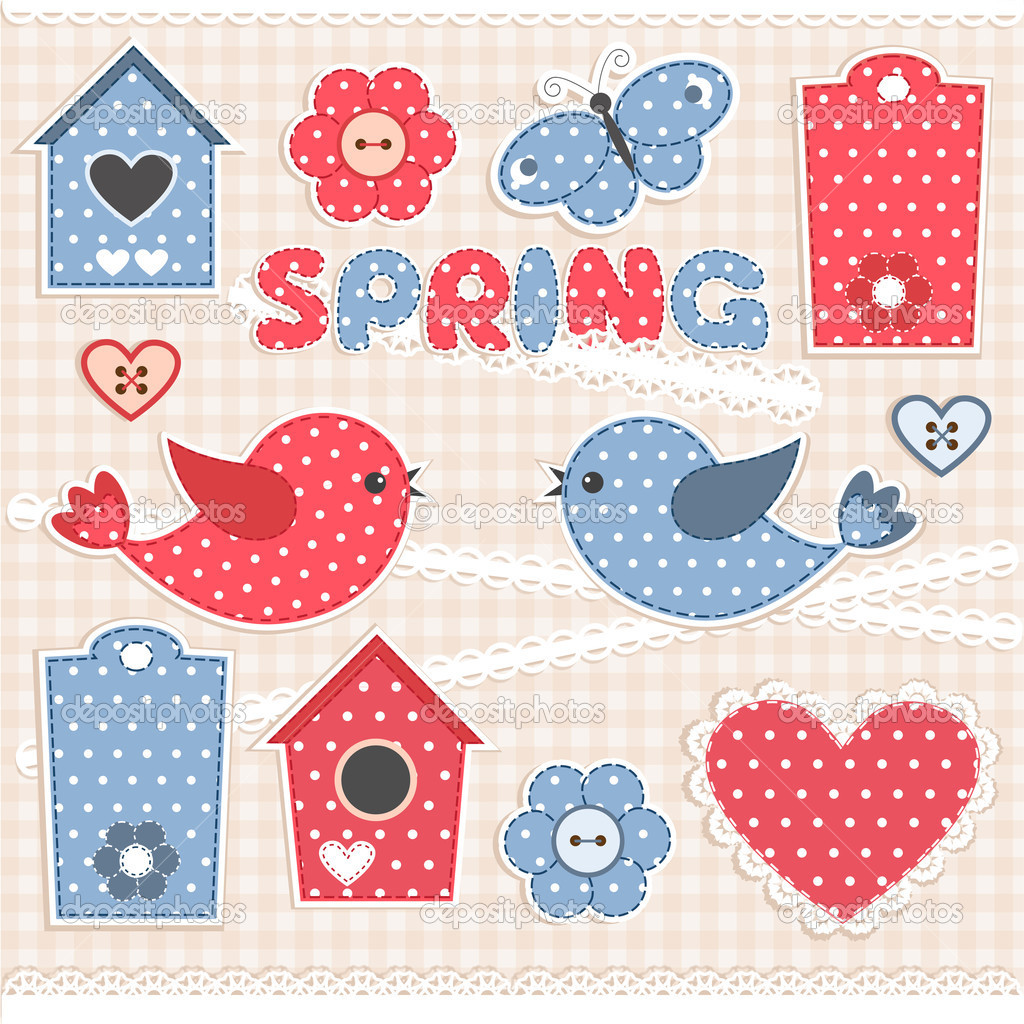 Spring.Vector scrapbook elements  Stock Vector #10170410