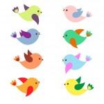 Spring birds — Stock Vector