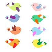 Uccelli di primavera — Vettoriale Stock