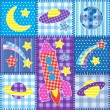 Colorful Space patchwork — Stock Vector