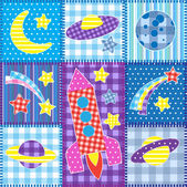 Mosaico colorido espacio — Vector de stock
