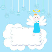 Christmas baby angel — Vector de stock