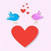 птицы в любви — Cтоковый вектор