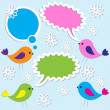 cute birds — Stock Vector