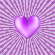Violet heart — Stock Vector