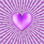 Fialové srdce — Stock vektor