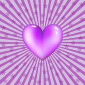 Violet heart — Stock Vector