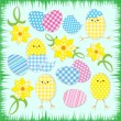Easter chickens - Image vectorielle