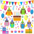 Royalty-Free Stock Vector Image: Funny owls