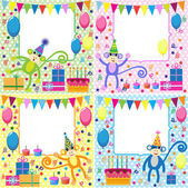 Birthday cards — Stock Vector