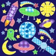 Space stickers — Stock Vector #8552048