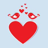 Birds in love — Vector de stock