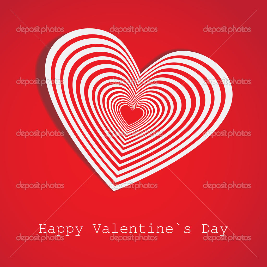 Original paper heart. Valentine's day card.Vector eps 10 — Stock Vector #8552042