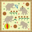 Babies elephants - Stockvektor