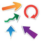 стрелка бумажные наклейки — Cтоковый вектор