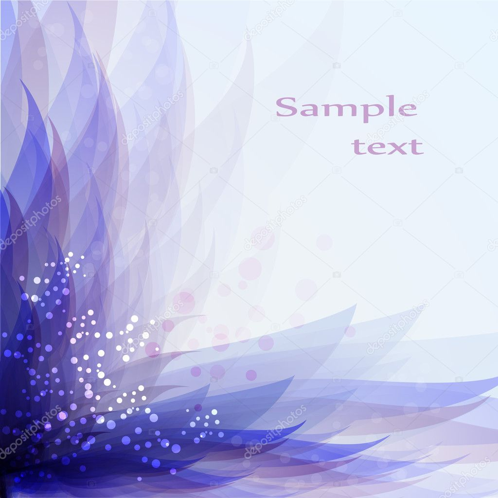 Abstract blue floral background  Stock Vector #8914847