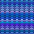 Seamless pattern of  blue waves — Stock Vector