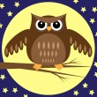 Owl at Night — Stockvektor