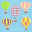 Royalty-Free Stock Vector Image: Hot air balloons