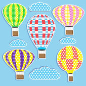 Hot air balloons — Stock Vector