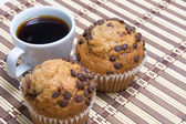 Coffe and muffin — Stock Photo