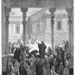Daniel Confounding The Priests Of Bel — Stock Photo