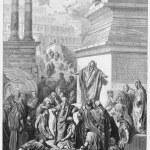 Постер, плакат: Jonah preaching to the Ninevites
