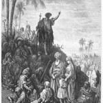 Постер, плакат: John the Baptist Preaches in the Wilderness