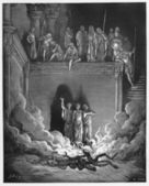 Shadrach, Meshach, and Abednego in the Fiery Furnace — Stock Photo