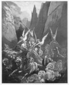 Vision of the four chariots — Stock Photo