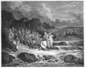 Judas Maccabeus Pursuing Timotheus — Stock Photo
