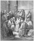 Jesus with the Doctors — Stock Photo