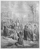 Entry of Jesus into Jerusalem — Stock Photo